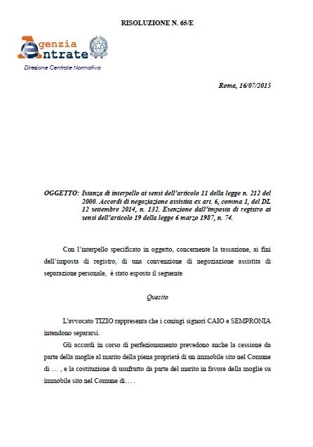 Scarica la risoluzione in pdf