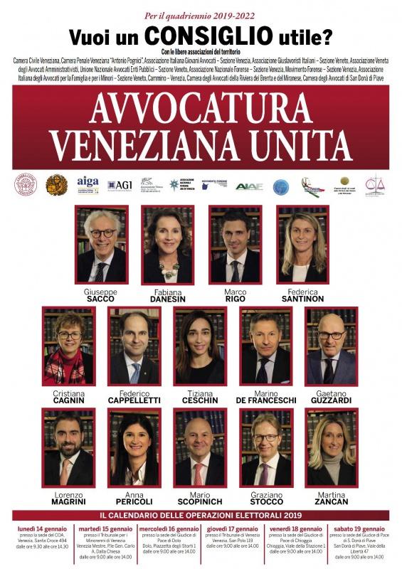 Lista Avvocatura Veneziana Unita
